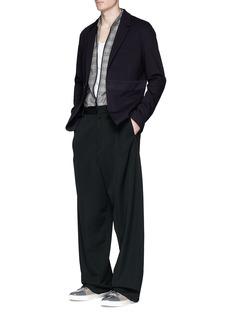 LanvinStripe trim cotton piqué soft blazer