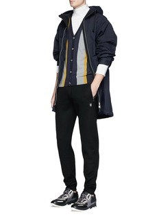 Lanvin Colourblock Merino wool-cotton cardigan
