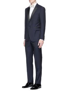 Lanvin'Attitude' peak lapel wool-mohair tuxedo suit