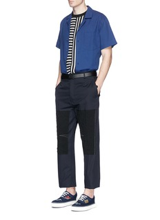 Lanvin Contrast panel relaxed twill pants
