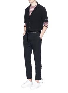 LanvinPatch pocket stripe long sleeve T-shirt