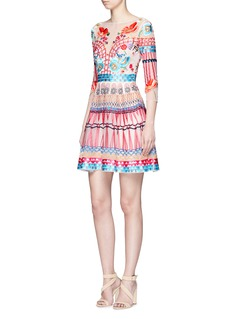 Temperley London 'Mini Aura' floral embroidered organza dress