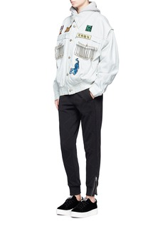 Ground-ZeroTiger patch safety pin denim jacket