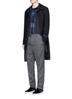 Lanvin Let out stitched seam wool coat