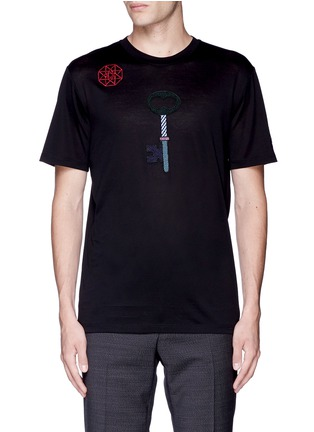 Main View - Click To Enlarge - Lanvin - Key icon embroidery patch T-shirt