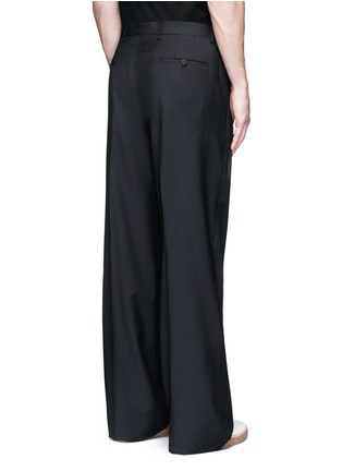 Back View - Click To Enlarge - Lanvin - Oversized pleat front wool pants