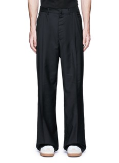 Lanvin Oversized pleat front wool pants