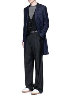 LanvinOversized pleat front wool pants