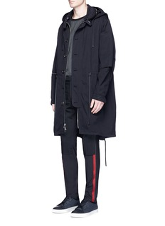 LanvinRibbon trim wool pants