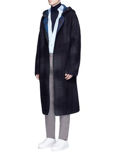 Lanvin Check plaid parka coat