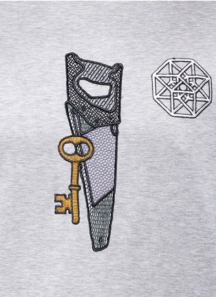 Detail View - Click To Enlarge - Lanvin - Saw icon embroidery patch T-shirt