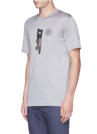 Front View - Click To Enlarge - Lanvin - Saw icon embroidery patch T-shirt