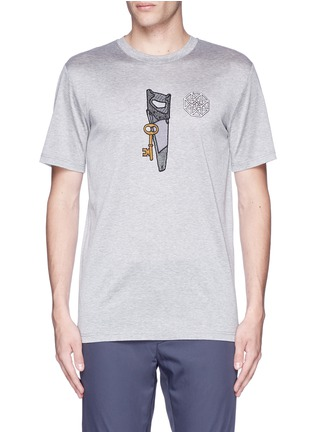 Main View - Click To Enlarge - Lanvin - Saw icon embroidery patch T-shirt