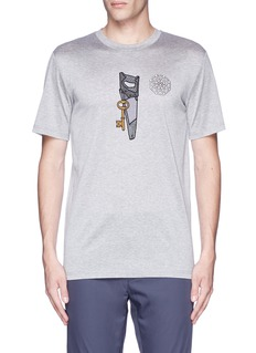 Lanvin Saw icon embroidery patch T-shirt