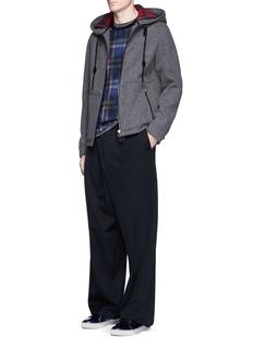 LanvinWool-blend hooded herringbone jacket