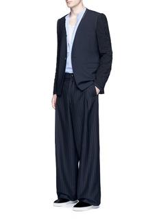 LanvinCrinkle sleeve wool blazer
