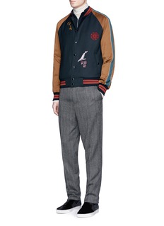 Lanvin Embroidery patch teddy jacket