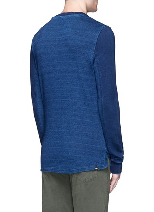 Back View - Click To Enlarge - Denham - Top stitch harness sweatshirt
