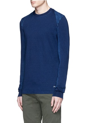 Front View - Click To Enlarge - Denham - Top stitch harness sweatshirt