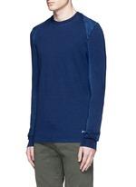 Top stitch harness sweatshirt