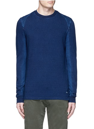 Main View - Click To Enlarge - Denham - Top stitch harness sweatshirt