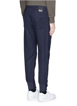 Back View - Click To Enlarge - Denham - 'Munich' knee patch twill pants