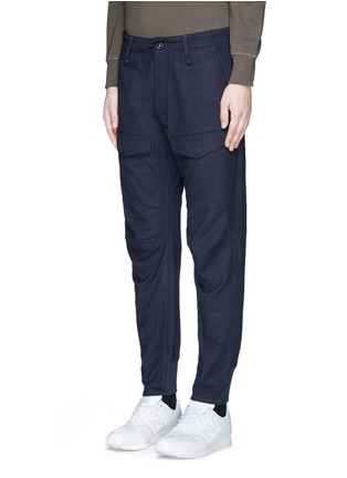 Front View - Click To Enlarge - Denham - 'Munich' knee patch twill pants