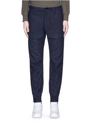 Main View - Click To Enlarge - Denham - 'Munich' knee patch twill pants