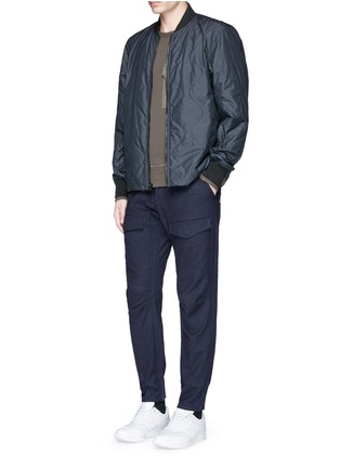 Figure View - Click To Enlarge - Denham - 'Munich' knee patch twill pants