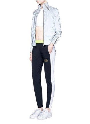 Figure View - Click To Enlarge - Monreal London - 'Tuxedo' zip cuff colourblock track pants