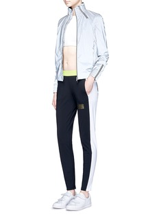 Monreal London'Tuxedo' zip cuff colourblock track pants