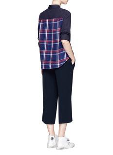 Clu TooCheck flannel back poplin shirt