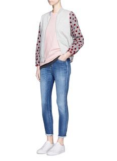 Clu TooFlocked polka dot sleeve jersey T-shirt