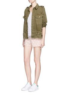 Clu TooFlocked polka dot cotton shorts