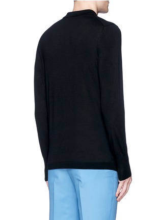 Back View - Click To Enlarge - Acne Studios - 'Janeck' spread collar wool sweater