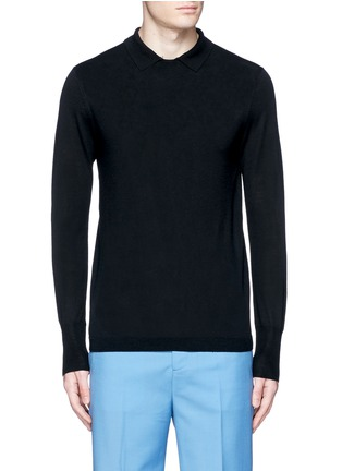 Main View - Click To Enlarge - Acne Studios - 'Janeck' spread collar wool sweater