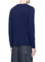 Dasher O Face' appliqué wool sweater