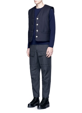 Figure View - Click To Enlarge - Acne Studios - Dasher O Face' appliqué wool sweater