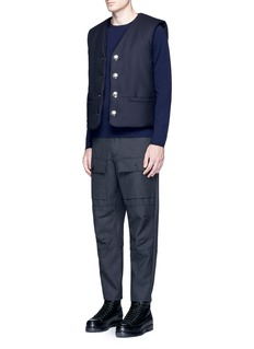 Acne Studios Dasher O Face' appliqué wool sweater