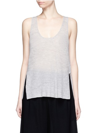 Main View - Click To Enlarge - Helmut Lang - Openwork cashmere knit racerback tank top
