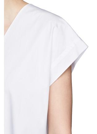 细节 - 点击放大 - HELMUT LANG - 单色V领纯棉府绸上衣
