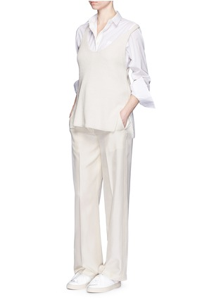 Figure View - Click To Enlarge - Helmut Lang - Silk carpenter pants