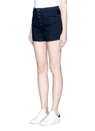 Front View - Click To Enlarge - Helmut Lang - Button fly denim shorts
