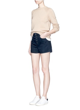 Figure View - Click To Enlarge - Helmut Lang - Button fly denim shorts