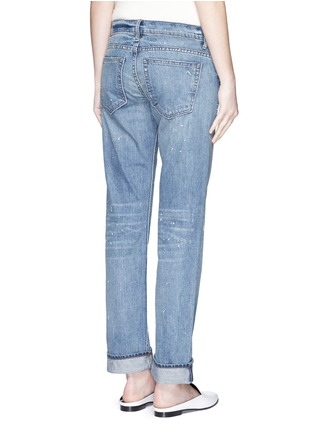 Back View - Click To Enlarge - Helmut Lang - Light Vintage paint print jeans