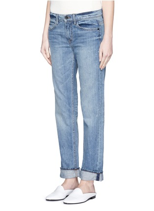 Front View - Click To Enlarge - Helmut Lang - Light Vintage paint print jeans