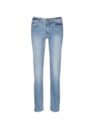 Main View - Click To Enlarge - Helmut Lang - Light Vintage paint print jeans