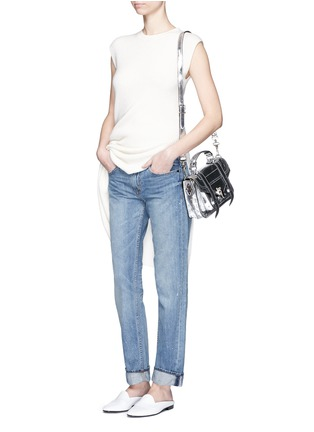 Figure View - Click To Enlarge - Helmut Lang - Light Vintage paint print jeans