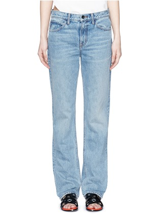Detail View - Click To Enlarge - Helmut Lang - Light worn boyfriend jeans