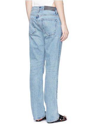 Back View - Click To Enlarge - Helmut Lang - Light worn boyfriend jeans